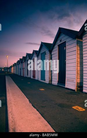 Beach huts in Devon - Stock Photo