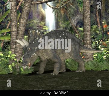 dinosaur Diceratus - Stock Photo