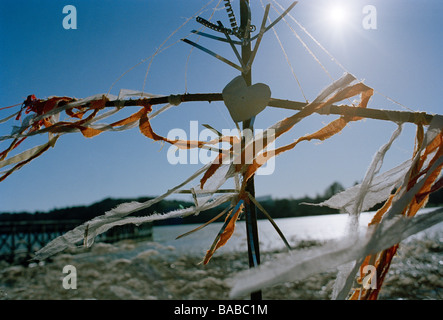 A memorial built on the shore of the sea - Stock Photo