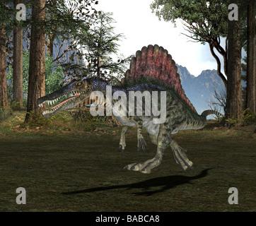 dinosaur Spinosaurus - Stock Photo