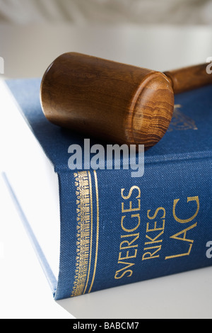 The Swedish statue book close-up - Stock Photo