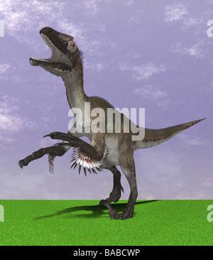 dinosaur Utahraptor - Stock Photo