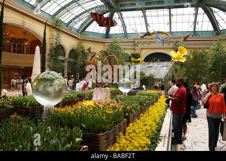 the conservatory and botanical gardens within the bellagio hotel and casino las vegas boulevard las vegas nevada - Stock Photo