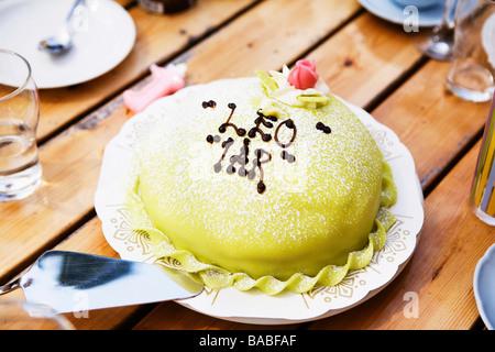 A birthday cake princess gteau Sweden - Stock Photo