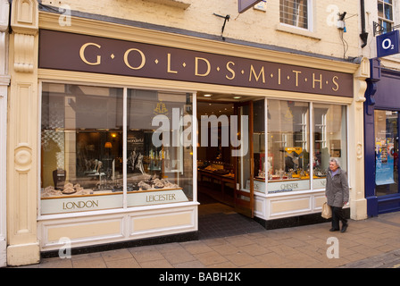 Goldsmiths the jewellers shop store in York,Yorkshire,Uk - Stock Photo