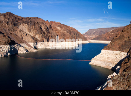 Lake Mead reservoir at the hoover dam, Nevada, USA - Stock Photo