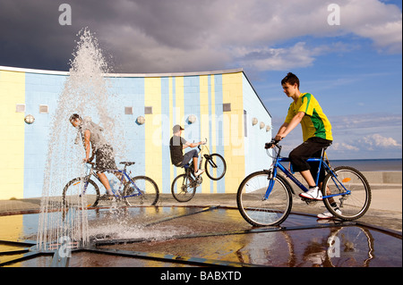 Estonia (Baltic States), Parnu, the country main seaside resort, Seaside District - Stock Photo