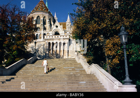 Hungary, Budapest, Fisherman's Bastion - end of 19th century located in the historical Buda Castle district classified - Stock Photo