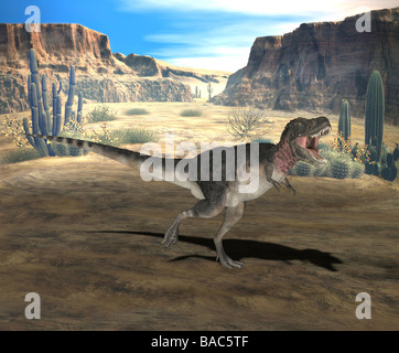 dinosaur Tarbosaurus - Stock Photo