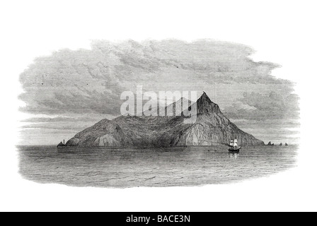 pitcairn's island south pacific ocean inhabited by descendants of the crew of h m s bounty 1867 - Stock Photo