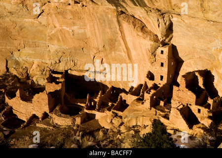 Square Tower House Ruin in Mesa Verde National Park, Colorado, USA. - Stock Photo