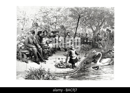 The public Garden on the Brewers company at Stepney - Stock Photo