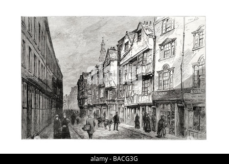 Old houses in Wych Street London Recently demolished - Stock Photo