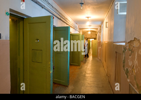 Lithuania (Baltic States), Vilnius, genocide victims museum, former KGB headquarters, Auku 2a cells located in building - Stock Photo