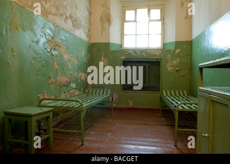 Lithuania (Baltic States), Vilnius, genocide victims museum, former KGB headquarters, Auku 2a, cells located in - Stock Photo