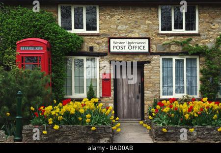The Old Post Office in the village of Weston Underwood, Buckinghamshire, UK - Stock Photo