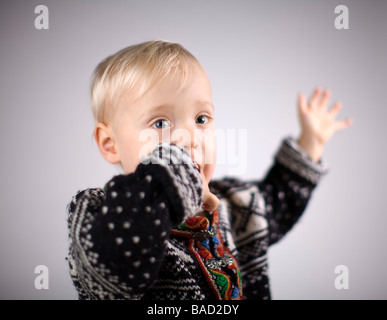 Portrait of a happy toddler - Stock Photo