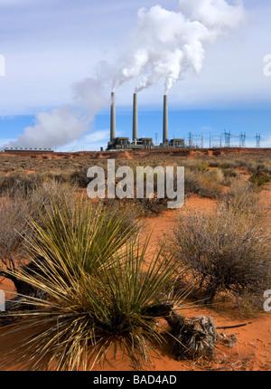 Navajo Generating Station near Page, Arizona, USA - Stock Photo