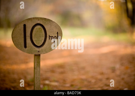 10 M P H speed limit sign - Stock Photo