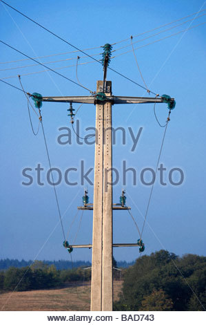 electricity wires - Stock Photo