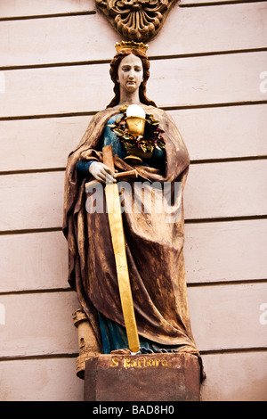 Saint Barbara statue - Stock Photo