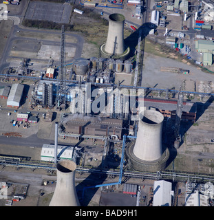 Close up of Chemical works, Billingham, Teeside, Northeast England - Stock Photo