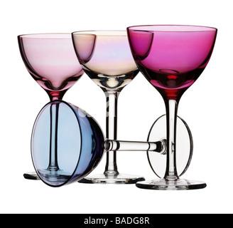 Four wine glasses - Stock Photo