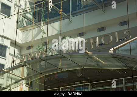 Harvey Nichols shop signage Leeds West Yorkshire England UK United Kingdom GB Great Britain - Stock Photo