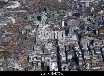Aerial View of Leeds City Centre Civic area, 2009, Northern England - Stock Photo