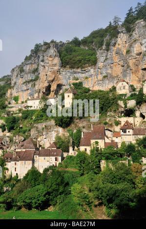 Rocamadour, Lot, Midi-Pyrenees, France - Stock Photo