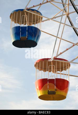The colourful Ferris wheel at Luna Park, Sydney, Australia. - Stock Photo