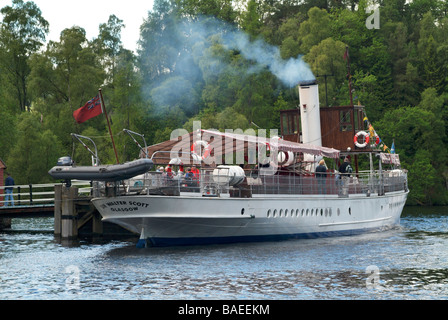 The steamship the 'Sir Walter Scott' at the Trossachs pier on Loch ...