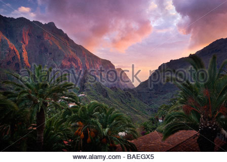 The village of Masca, Tenerife, Canary Islands, Spain. - Stock Photo