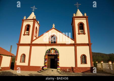 MEXICO El Triunfo Parroquia de Nuestra Senora de Guadalupe church in town built for miners in local silver mines - Stock Photo
