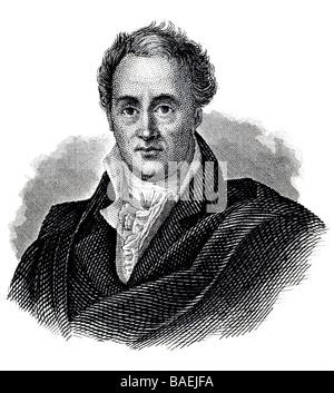 Johann Wolfgang von Goethe, 28. August 1749 Frankfurt am Main - 22. March 1832 Weimar - Stock Photo