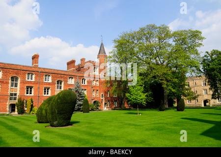 Jesus College Cambridge England Uk - Stock Photo