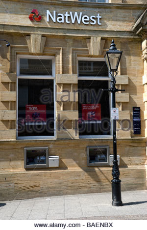 View of the front of  the Natwest Branch in Dorchester, Dorset, England, UK - Stock Photo
