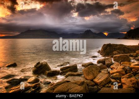 Cuillin Mountains Elgol, Isle of Skye - Stock Photo