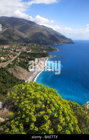 Landscape of Acquafredda, Maratea, Basilicata, Italy - Stock Photo