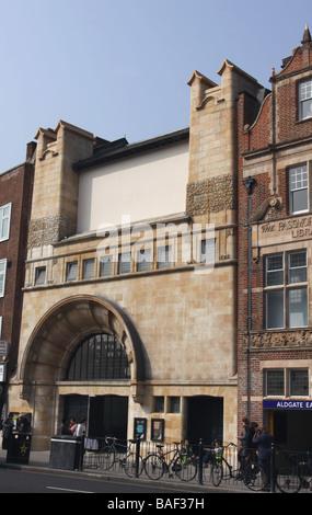 exterior of entrance to Whitechapel Art Gallery London England  April 2009 - Stock Photo