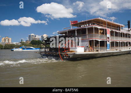 Paddle boat on Brisbane river, Brisbane, Queensland, Australia - Stock Photo