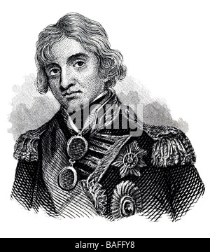 Vice Admiral Horatio Nelson, 1st Viscount Nelson, 1st Duke of Bronté - Stock Photo