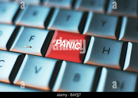 Panic Button on a Computer KeyBoard - Stock Photo