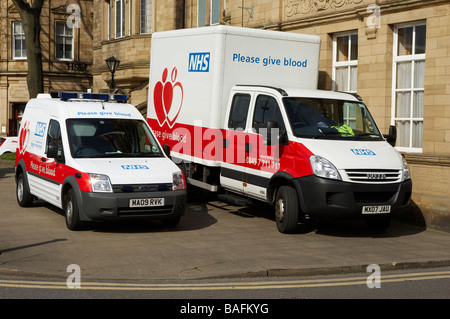 NATIONAL HEALTH SERVICE NHS BLOOD DONOR VEHICLE - Stock Photo