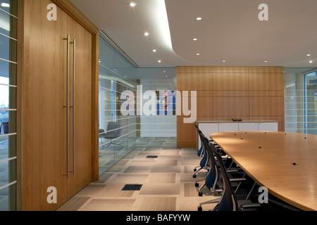 Ec Harris, London, United Kingdom, Swanke Hayden Connell, Ec harris boardroom. - Stock Photo