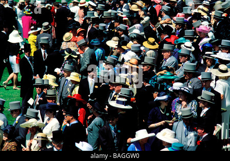 United Kingdom, Berkshire, Ascot, Royal Ascot horse races - Stock Photo