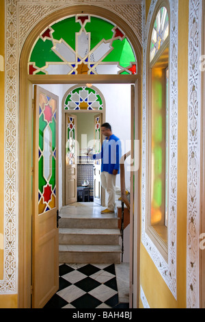morocco tangier hotel kasbah nord pinus stock photo. Black Bedroom Furniture Sets. Home Design Ideas