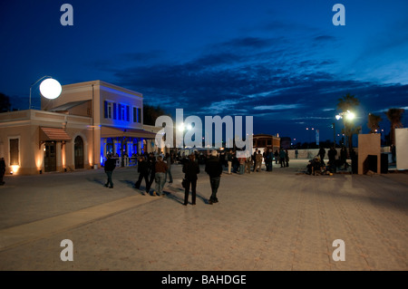 Mitham Hatachana a reconstructed historic train station which is an entertainment  compound today in Tel Aviv  Israel - Stock Photo