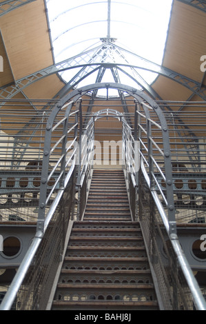 Stairway in Kilmainham Gaol, Dublin, Ireland - Stock Photo