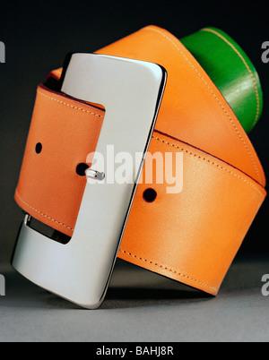 Luxury Designer Women's leather belt Fashion Accessory - Stock Photo